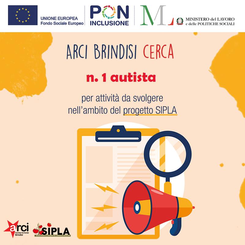 Avviso di selezione progetto SIPLA – Autista