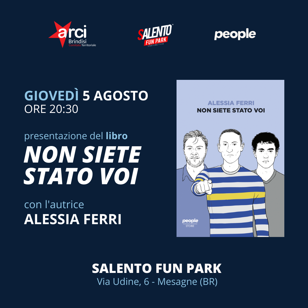 """Presentazione del libro """"Non siete Stato voi"""" di Alessia Ferri"""